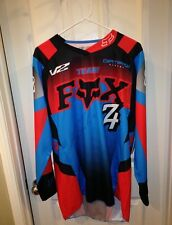 *RICKY CARMICHAEL*SIGNED*AUTOGRAPHED*JERSEY*FOX*180*TEAM FOX*SIZE ADULT LARGE*