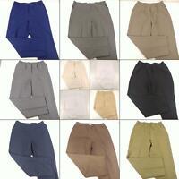 Lot 13 Size 14P Elastic Waist Pants Pull On Slacks Large Casual Dress Trousers