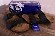 Birkenstock Arizona Birko-Flor Sandals Women's 10 Med Mens 8 Cork Shoes Black 41