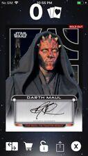 Topps Star Wars Digital Card Trader Galactic Files Darth Maul Signature Insert