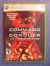 COMMAND & CONQUER LA FUREUR DE KANE XBOX 360 2008 COMPLETE CIB ACTUAL PIC TESTED