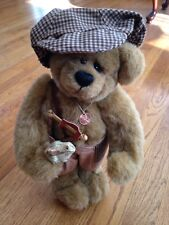 """Bobby Up the Street Boy Plush 14"""" Handmade Fully Jointed Bear by Penny French"""