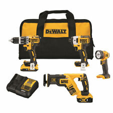 DeWalt DCK487D1M1 20V MAX XR Brushless Cordless Lithuim-Ion 4-Tool Combo Kit