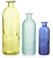 3 GREEN BLUE DUCK EGG GLASS BOTTLE VASE VASES ORNAMENTS Bathroom