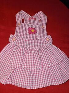 SMOOCHIE POOCH ♡ PINK ABD WHITE CHECKERED DRESS ♡ SIZE SMALL ♡ SO CUTE