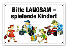 """Schild """"Langsam - spielende Kinder!"""" / Zone 30 / langsam fahrenn"""