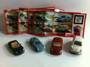 PORSCHE COMPLETE SET WITH ALL PAPERS (DC065 - DC068) KINDER SURPRISE 2011/2012
