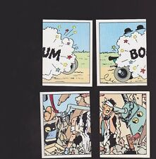 Herge Tintin Panini 1989 autocollants 223 224 225 226