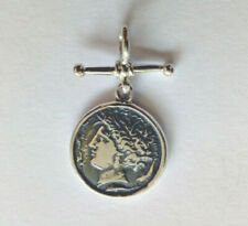 Sterling Silver Athena Coin Pendant On Fob