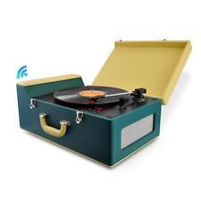Pyle PVTT15UBT Bluetooth Vintage Style Turntable Vinyl-to-MP3 FM Radio USB/SD