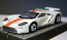 CUSTOM MEGA G+ WHITE FORD GT with WING, CHROME MAG WHEELS, & GOLD LVL 52 MAGS