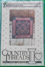 "Quilt Pattern: ""Baskets and Bows"" #120 by Country Threads"