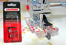 """Janome Clear View 1/4"""" Quilting Stitch in The Ditch Foot With 2 Guides 7mm"""