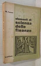 ELEMENTI DI SCIENZA DELLE FINANZE Marco Fanno Lattes 1965 Economia Manuale di e