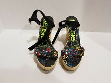 Kensie womens multi color wedge sandals size 7 B