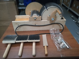 Uncle Kolya's Drum Carder for dirty and tangled wool 50TPI with thick tines