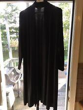Eileen Fisher Black Open Front Duster Long Cardigan M $218