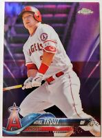 2018 TOPPS CHROME * MIKE TROUT /299 PURPLE * READY FOR GRADING! ANGELS!