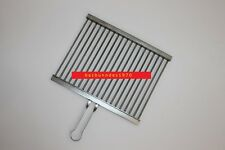 PREMIUM Edelstahl Grillrost 40 x 30 cm mit Griff 5 mm Stäbe MADE IN GERMANY