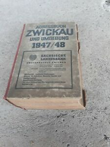 Altes Adressbuch Zwickau 1947/1948