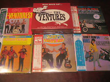 THE VENTURES 5 SEALED JAPAN OBI REPLICA LP'S SOME SELL FOR $1000 + THE 160 CUTS
