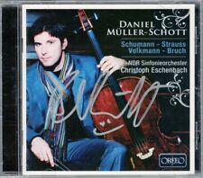 Daniel MÜLLER-SCHOTT Signed SCHUMANN VOLKMANN BRUCH Cello Concerto ESCHENBACH CD