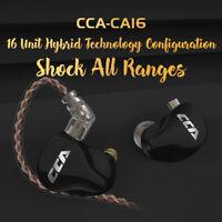 CCA CA16 Hybrid Drivers In Ear Earphone HIFI Noise Cancelling Monitoring Headset