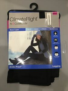 Climate Right Cuddl Duds Black Arctic Guard Leggings - Size XS