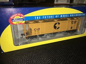 RARE FIRST RELEASE ATHEARN RTR C&O CHESSIE PS-2 COVERED HOPPER #2104 NEW HO