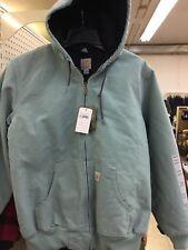 Carhartt WJ130 - Women's Sandstone Quilt Flannel Lined Jacket Mist Blue LRG.