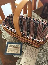 Longaberger All-American Candle Basket With Protector And Liner. Made In Amer
