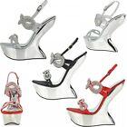 S302 - Ladies High-Heeled Wedge Heel-Less Platform Party Shoes - UK 3 - 8
