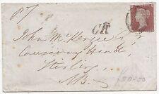 * 1851 LONDON >JOHN MACKENZIE CAUSEWAYHEAD STIRLING  C.R. TPO CALEDONIAN RAILWAY