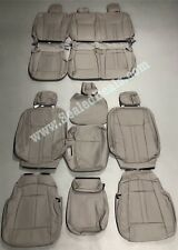 2015 20 Ford F 150 Xlt Supercrew Gray Leather Seat Covers Lariat Factory Style Fits Ford F 150