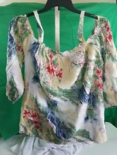 Blouse Cold Shoulder CHAPS Size 2X Orig $66.00 NEW NWT