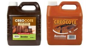 Barrettine Creocote Dark/Light Brown Oil Based Timber Shed Fence Treatment 4Ltr