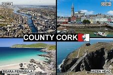SOUVENIR FRIDGE MAGNET of COUNTY CORK IRELAND & COBH & BEARA &  MIZEN HEAD