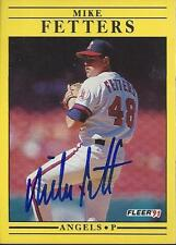 Mike Fetters California Angels 1991 Fleer Signed Card