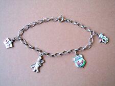 Bettel-Armband aus 835 Silber Wappen,Hund,Schornsteinfeger,Kartenspiel Anhänger