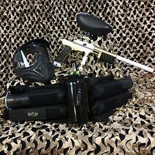 New Azodin Kp3 Legendary Pump Paintball Marker Gun Package Kit - White/Gold