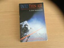 Into Thin Air A Personal Account Of The Everest Disaster By Jon Krakauer