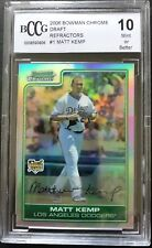 2006 Bowman Chrome Ref Matt Kemp RC Rookie BGS/BCCG 10 Los Angeles Dodgers