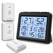 Цифровой ЖК-термометр гигрометр домой, внешняя температура, влажность (1/3 датчика)