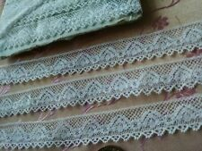 """5/8"""" Very Fine Antique lace thin Val edging 3.5 yards cotton"""