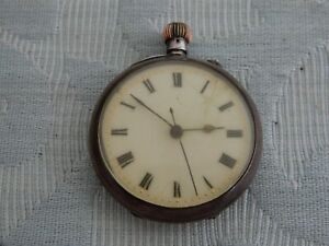 Unusual 1907 Longines pocket watch, Centre seconds, for restoration now, working