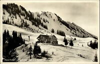 Alpenhotel Schönblick bei Oberstdorf Postkarte 1937 Hotel und Umgebung im Winter