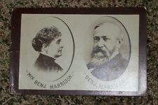 Real Photo PRESIDENT BENJAMIN HARRISON & WIFE Republican Political 1880's