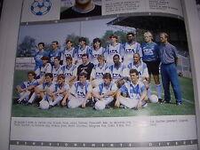 FOOTBALL COUPURE LIVRE PHOTO COULEUR 20x10 D2 GrA OLYMPIQUE ALES 1989/1990