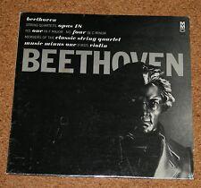 LP Beethoven String Quartets Opus 18 Music minus one Violin voti QUADERNO Made USA
