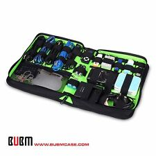 BUBM STORAGE CARRY CASE for Power adapter USB cable power cord battery large